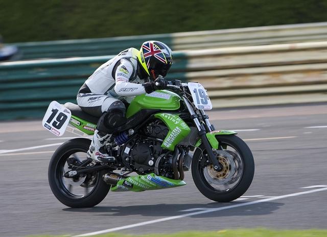 David Bell on Kawasaki at Croft