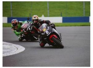 David Bell at the Haslam Motorcycle Race School Donnington Park